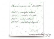 Zobrazit detail - Harmonogram svatebního dne lístečky