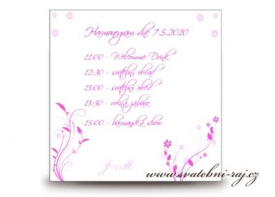 Harmonogram svatba