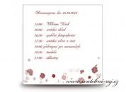 Zobrazit detail - Harmonogram svatebního dne s růžičkami