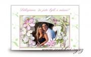 Zobrazit detail - Kartička poděkování za svatební dary
