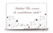 Zobrazit detail - Pozvánka ke svatebnímu stolu s květy