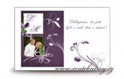 Zobrazit detail - Poděkování za svatební dary violett