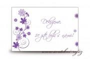 Zobrazit detail - Poděkování za svatební dary s květinkami