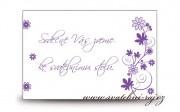 Zobrazit detail - Pozvánka ke svatebnímu stolu