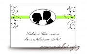 Zobrazit detail - Pozvánka ke svatebnímu stolu medailon