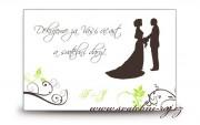 Zobrazit detail - Poděkování za svatební dary se siluetami