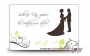 Zobrazit detail - Pozvánka ke svatebnímu stolu siluety