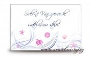 Zobrazit detail - Pozvánka ke svatebnímu stolu moře