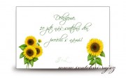 Zobrazit detail - Poděkování za svatební dary se slunečnicemi