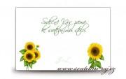 Zobrazit detail - Pozvánka ke svatebnímu stolu slunečnice