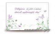 Zobrazit detail - Poděkování za svatební dary s motýlky