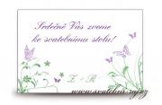 Zobrazit detail - Pozvánka ke svatebnímu stolu s motýly