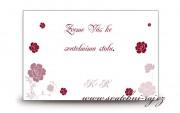 Zobrazit detail - Pozvánka ke svatebnímu stolu s růžemi
