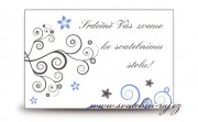 Zobrazit detail - Pozvánka ke svatebnímu stolu spirálky