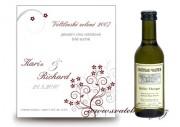 Zobrazit detail - Svatební mini víno s květinkami