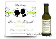 Zobrazit detail - Svatební mini víno medialonek