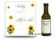 Zobrazit detail - Svatební mini víno se slunečnicemi