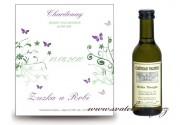 Zobrazit detail - Svatební mini víno s motýlky