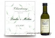 Zobrazit detail - Svatební mini víno s lístečky