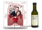 Svatební víno s fotkou červený motiv