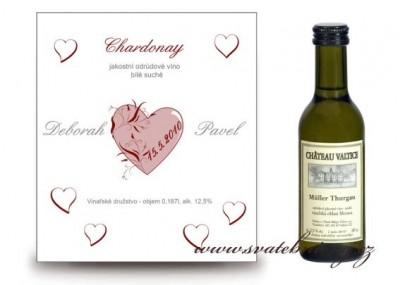 Svatební víno etiketa