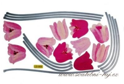 Květinové samolepky