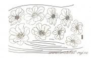 Zobrazit detail - Samolepky květiny na zeď