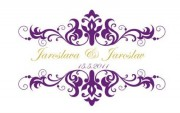 Zobrazit detail - Fialové svatební logo