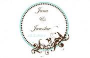 Zobrazit detail - Svatební logo kruh s ornamenty