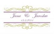 Zobrazit detail - Svatební logo s jemným dekorem