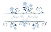 Zobrazit detail - Svatební logo s květinami