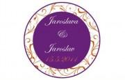 Zobrazit detail - Svatební logo fialový kruh