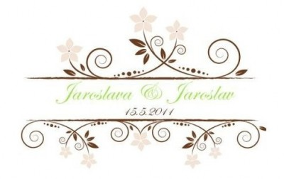 Jména novomanželů logo