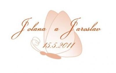 Svatební logo motýl