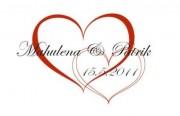 Zobrazit detail - Svatební logo se srdíčky