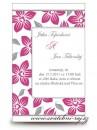 Zobrazit detail - Svatební oznámení malinové květy