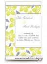 Zobrazit detail - Svatební oznámení zelené květy