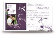 Zobrazit detail - Svatební oznámení Violett