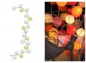 Zobrazit detail - Světelný řetěz v zeleno-bílé barvě