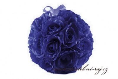 Koule z růží modrá