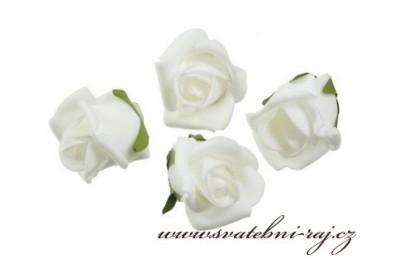 Bílá pěnová růžička