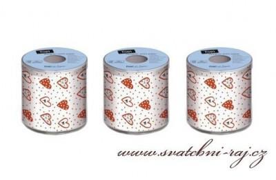 Toaletní papír se srdíčky