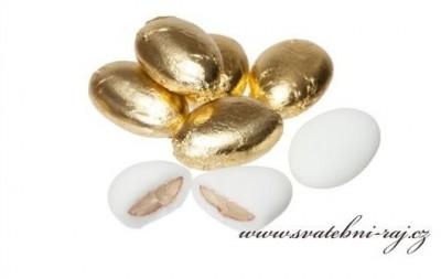 Zlaté svatební mandle
