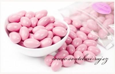 Svatební mandle růžové