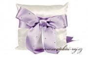 Zobrazit detail - Krásný polštářek s fialovou mašlí