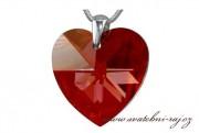 Zobrazit detail - Swarovski rudé srdce na řetízku