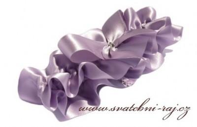 Podvazek pro nevěstu fialový