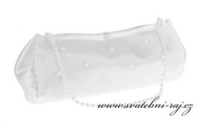 Svatební kabelka s perličkami