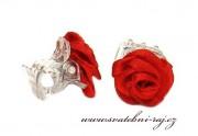 Zobrazit detail - Luxusní růžičky v červené barvě