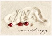 Zobrazit detail - Krásné perličky v bordó barvě